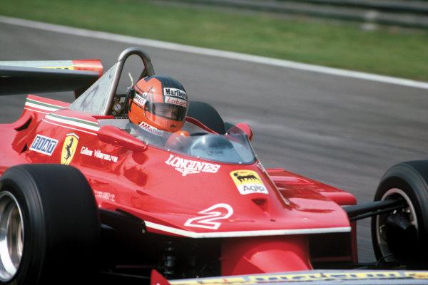 Zolder, Belgium. 2 - 4 May 1980.Gilles Villeneuve (Ferrari 312T5), 6th position, action. World Copyright: LAT Photographic.Ref:  80BEL08.