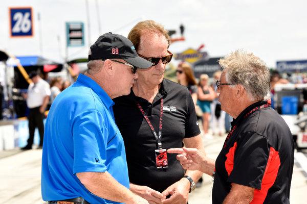 Verizon IndyCar Series ABC Supply 500 Pocono Raceway, Long Pond, PA USA Sunday 20 August 2017 Al Unxer, Jr., Arie Luyendyk and Mario Andretti World Copyright: Gregg Feistman LAT Images