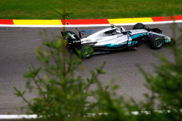 Spa Francorchamps, Belgium.  Saturday 26 August 2017. Valtteri Bottas, Mercedes F1 W08 EQ Power+.  World Copyright: Steven Tee/LAT Images  ref: Digital Image _O3I1611