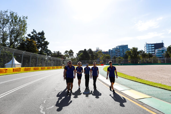 Track walk with Romain Grosjean, Haas F1 Team.