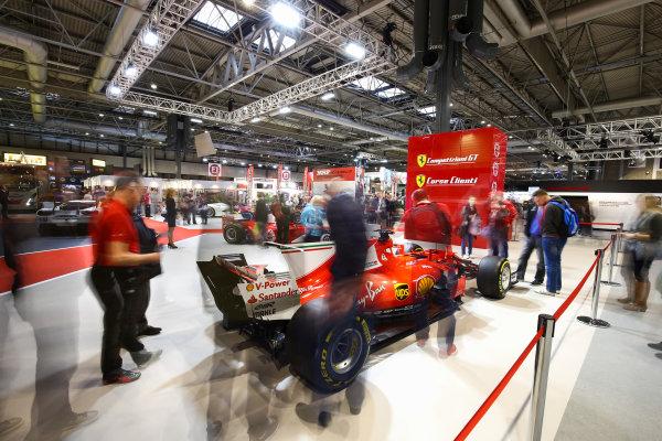 Autosport International Exhibition. National Exhibition Centre, Birmingham, UK. Sunday 14th January 2018. The Ferrari stand.World Copyright: Mike Hoyer/JEP/LAT Images Ref: AQ2Y9691