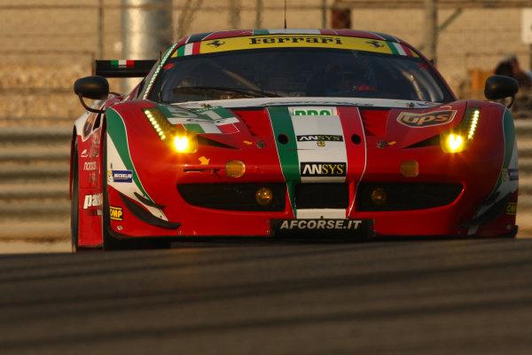 2013 FIA World Endurance Championship,Bahrain, 28th-30th December 2013,Gianmaria BRUNI, Toni VILANDER, AF Corse Ferrari 458 ItaliaWorld Copyright: Ebrey/LAT Photographic