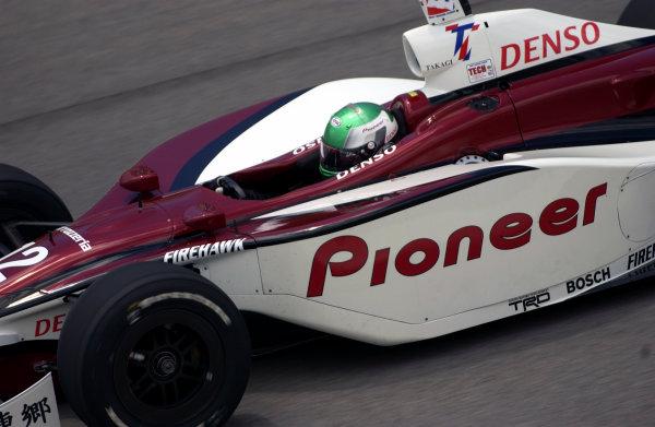 2003 IRL IndyCar Texas,6/5-6/7/03, Tora TakagiTexas Motor SpeedwayWorld Copyright-Walt Kuhn 2003 LAT Photographicref: Digital Image Only