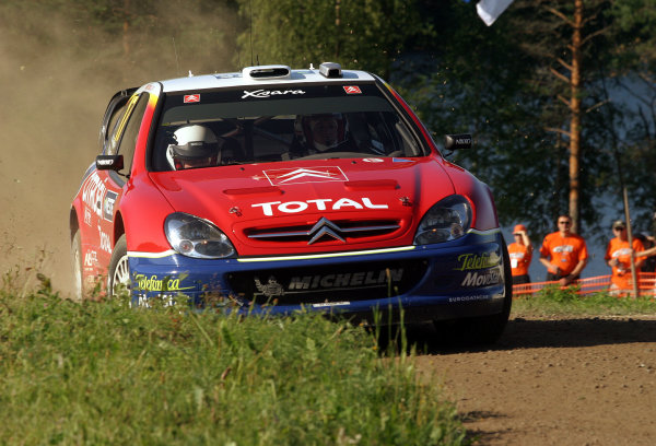2003 FIA World Rally Champs. Round nine, Neste Rally Finland. Rally7th-10th August 2003.Colin McRae, Citroen, Action. World Copyright: McKlein/LAT