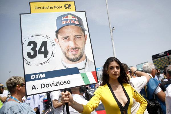 Grid girl of Andrea Dovizioso, Audi Sport Team WRT.