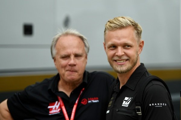 Kevin Magnussen, Haas F1 and Gene Haas, Owner and Founder, Haas F1