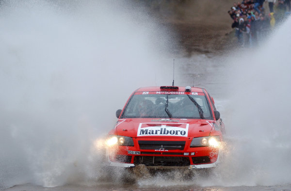 World Rally Championship, Rally of Argentina, May 16-19, 2002.Alister McRae splashes through water on stage 11.Photo: Ralph Hardwick/LAT