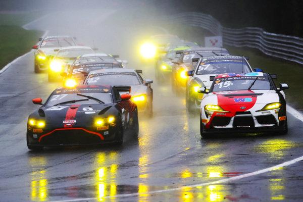 Matt Topham / Darren Turner - Newbridge Motorsport Aston Martin Vantage AMR GT4 and John Ferguson / Jamie Caroline - Toyota GAZOO Racing UK Toyota GR Supra GT4