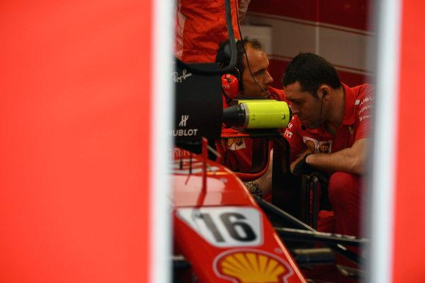 Ferrari SF-71H in the garage