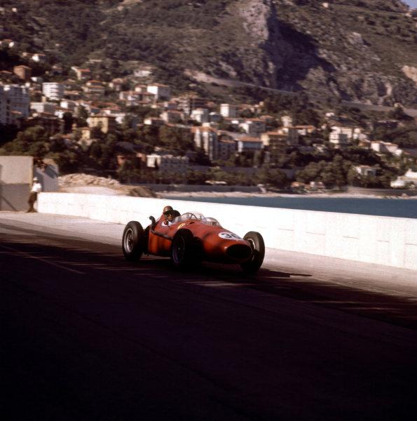 1958 Monaco Grand Prix.Monte Carlo, Monaco.15-18 May 1958.Peter Collins (Ferrari Dino 246) 3rd position.Ref-3/0002.World Copyright - LAT Photographic