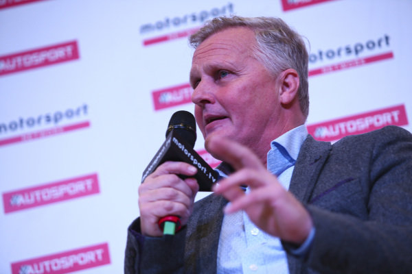 Johnny Herbert talks to Stuart Codling on the Autosport Stage.