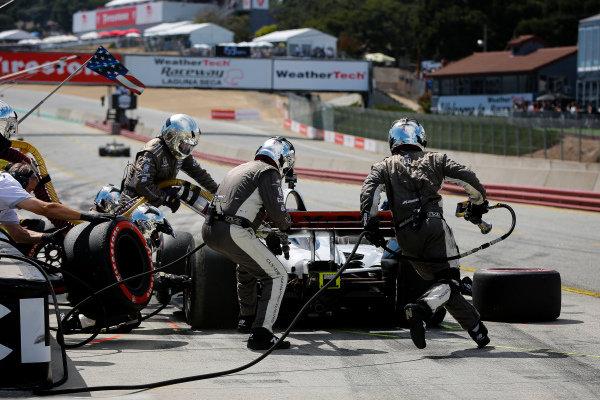Santino Ferrucci, Dale Coyne Racing Honda pit stop
