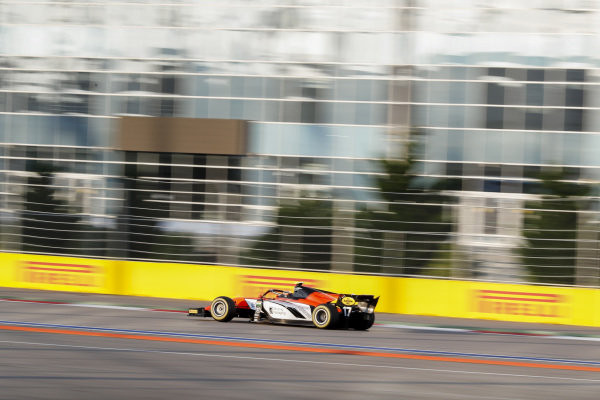 SOCHI AUTODROM, RUSSIAN FEDERATION - SEPTEMBER 28: Mahaveer Raghunathan (IND, MP MOTORSPORT) during the Sochi at Sochi Autodrom on September 28, 2019 in Sochi Autodrom, Russian Federation. (Photo by Carl Bingham / LAT Images / FIA F2 Championship)