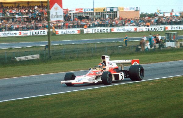 1974 Belgian Grand Prix.Nivelles-Baulers, Belgium.10-12 May 1974.Emerson Fittipaldi (McLaren M23 Ford) 1st position.Ref-74 BEL 02.World Copyright - LAT Photographic