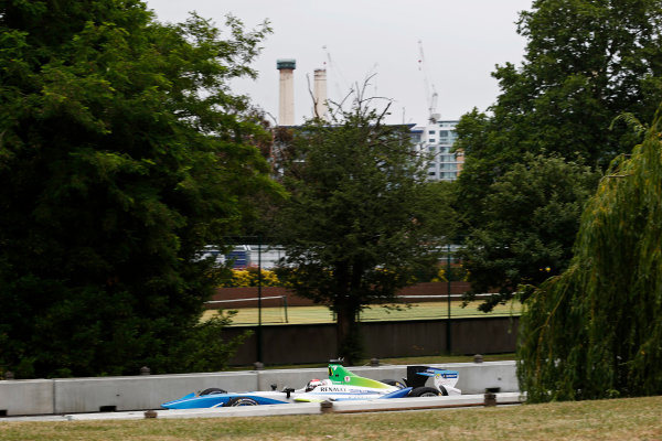 2014/2015 FIA Formula E Championship. London e-Prix, Battersea Park, London, UK. Sunday 28 June 2015. Jarno Trulli (ITA)/Trulli Racing - Spark-Renault SRT_01E  World Copyright: Steven Tee/LAT Photographic/Formula E. ref: Digital Image _L4R0507