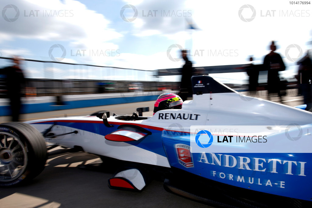 FIA Formula E Test Day, Donington Park, UK.  9th - 10th July 2014.  Franck Montagny, Andretti Autosport. Photo: Glenn Dunbar/FIA Formula E ref: Digital Image _W2Q9456