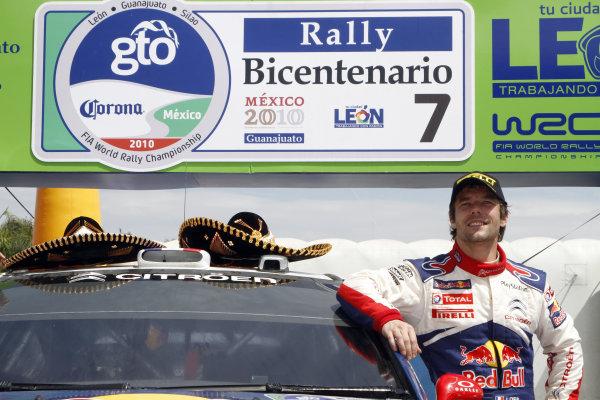 2010 FIA World Rally ChampionshipRound 02Rally Mexico 4-7 Mars 2010Sebastien Loeb, Citroen WRC, PodiumWorldwide Copyright: McKlein/LAT