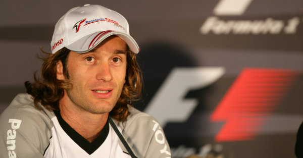 2005 French Grand Prix - Thursday Preview, Magny Cours, France. 30th June 2005 Press Conference - Jarno Trulli, Toyota TF105, portrait World Copyright: Steve Etherington/LAT Photographic ref: 48mb Hi Res Digital Image