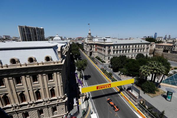 Baku City Circuit, Baku, Azerbaijan. Saturday 24 June 2017. Stoffel Vandoorne, McLaren MCL32 Honda.  World Copyright: Glenn Dunbar/LAT Images ref: Digital Image _X4I1010