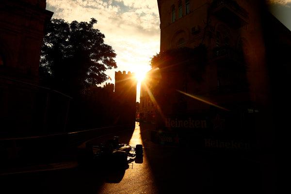 Baku City Circuit, Baku, Azerbaijan. Friday 23 June 2017. Romain Grosjean, Haas VF-17. World Copyright: Andrew Hone/LAT Images ref: Digital Image _ONZ6642