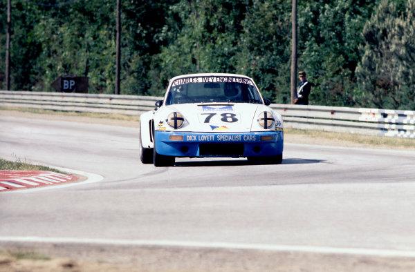 Le Mans, France. 11th - 12th June 1977.John Rulon-Miller/John Cooper/Pete Lovett (Porsche Carrera RSR), retired, action. World Copyright: LAT PhotographicRef: 77LM