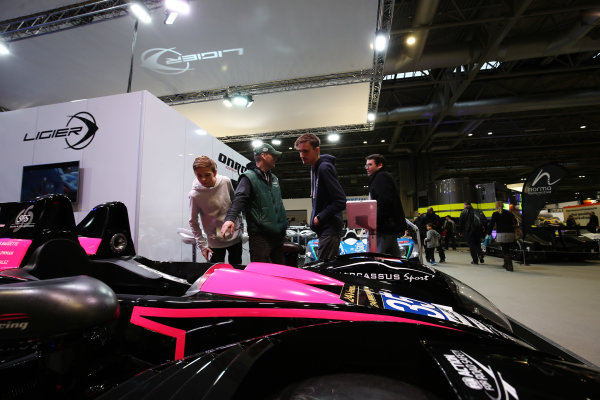 Autosport International Exhibition. National Exhibition Centre, Birmingham, UK. Saturday 13th January 2018. Visitors walk past the Ligier stand.World Copyright: Jakob Ebrey/LAT Images Ref: JR2_4365