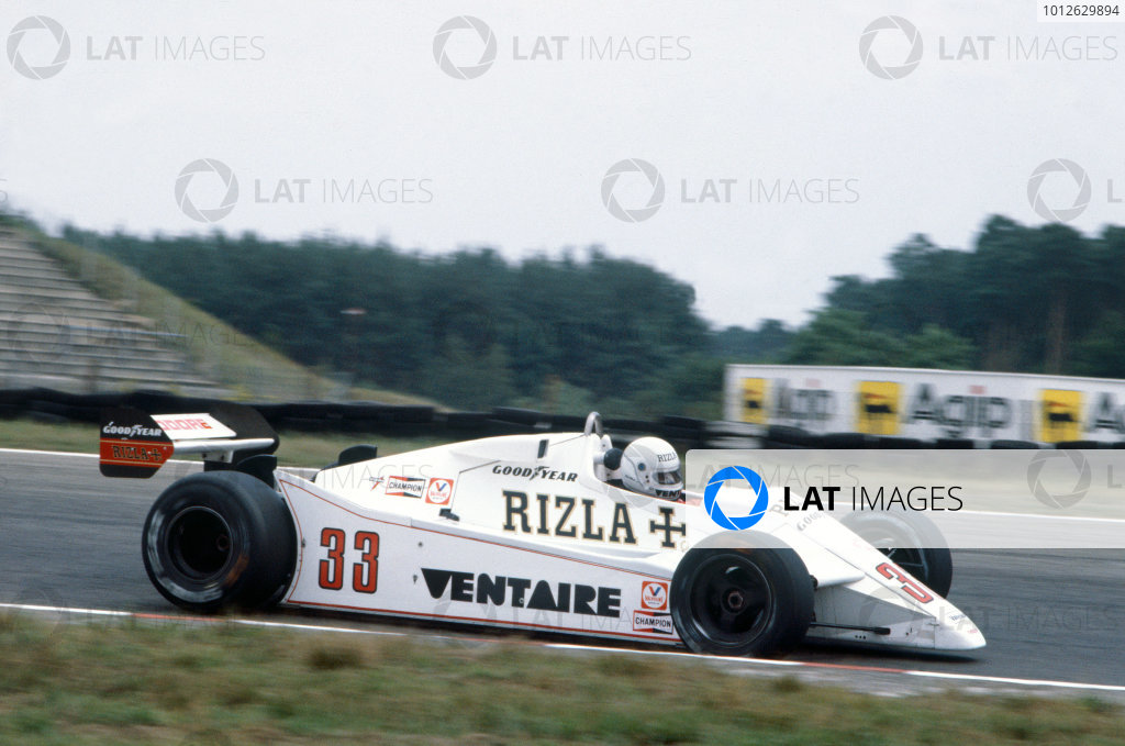 Hockenheim, Germany. 6th - 8th August 1982.Tommy Byrne (Theodore TY02-Ford), DNQ, action.Ref - 82_GER_Byrne01World Copyright - LAT Photographic