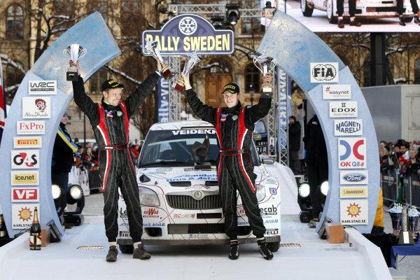 2010 FIA World Rally ChampionshipRound 01Rally Sweden 11-14 February 2010PG Andersson, Skoda S2000, PodiumWorldwide Copyright: McKlein/LAT