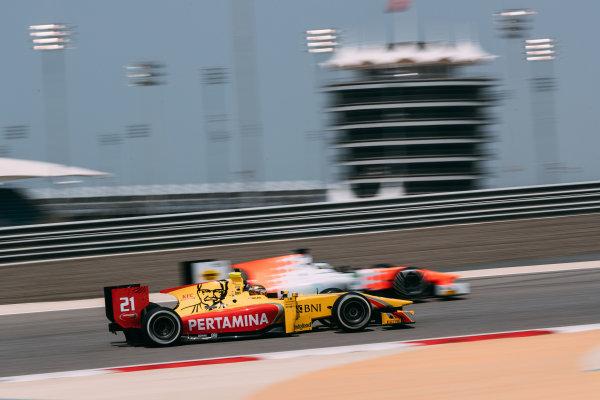 Bahrain International Circuit, Sakhir, Bahrain. Thursday 30 March 2017 Sean Gelael (INA) Pertamina Arden  Photo: Malcolm Griffiths/FIA Formpula 2 ref: Digital Image MALC7082