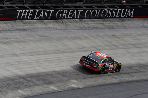 NASCAR Xfinity Series Fitzgerald Glider Kits 300 Bristol Motor Speedway, Bristol, TN USA Saturday 22 April 2017 Erik Jones, Reser's American Classic Toyota Camry celebrates his win with a burnout World Copyright: Nigel Kinrade LAT Images ref: Digital Image 17BRI1nk07062