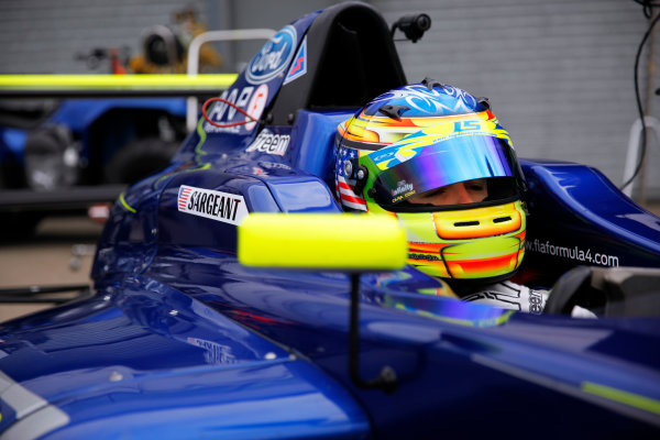 2017 British Formula 4 Championship, Donington Park, April 15th-16th 2017, Logan Sargeant (USA) Carlin British F4 World Copyright. JEP/LAT Images