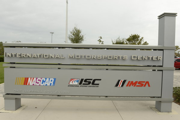 19-20 November, 2013, Daytona Beach, Florida The unveiling of the new IMSA sign at International Motorsports Center in Daytona Beach, FL @2013 Richard Dole LAT Photo USA