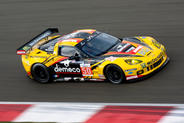 10th/11th&12th September 2011Silverstone, Northants.Bornhauser / Canal / Gardel (#50 Larbre Competition Corvette C6-ZR1, LMGTE Am). Action.Image Copyright Malcolm Griffiths/LATDigital Image _H0Y1895 jpg