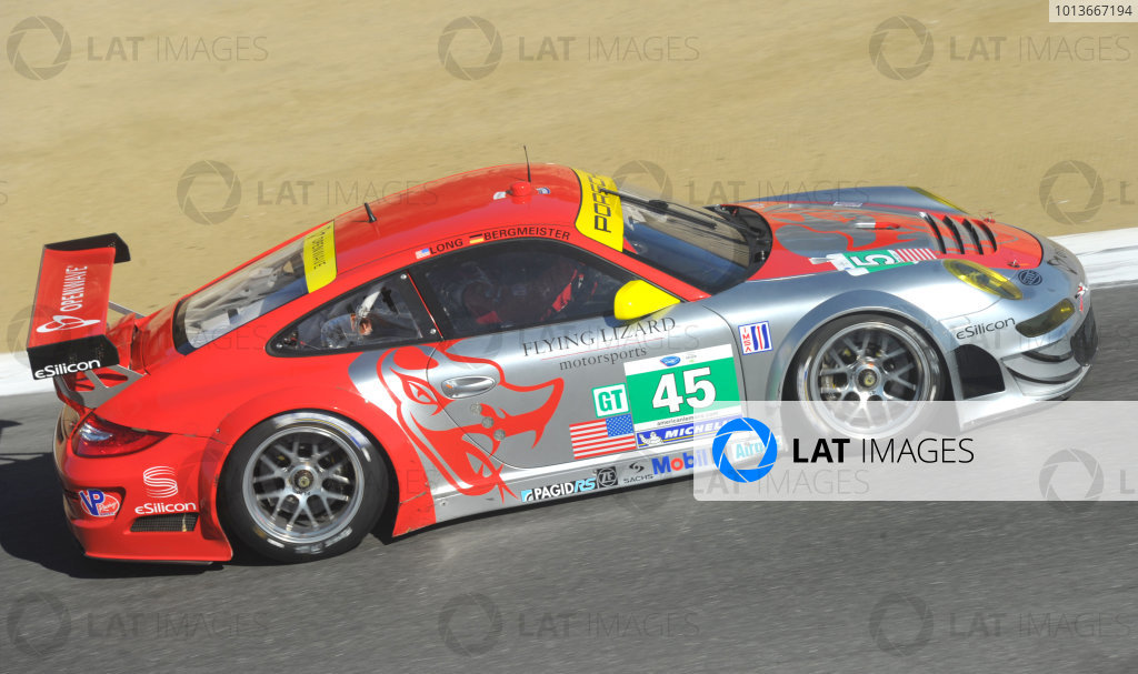 16-18 September, 2011, Monterey, California USA#45 Flying Lizard Motorsports Porsche 911 GT3 RSR(c)2011,  Dan R. Boyd  LAT Photo USA