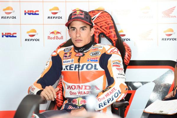2017 MotoGP Championship - Round 14 Aragon, Spain. Friday 22 September 2017 Marc Marquez, Repsol Honda Team World Copyright: Gold and Goose / LAT Images ref: Digital Image 693750