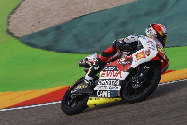 2017 Moto3 Championship - Round 14 Aragon, Spain. Saturday 23 September 2017 Tatsuki Suzuki, SIC58 Squadra Corse World Copyright: Gold and Goose / LAT Images ref: Digital Image 14018