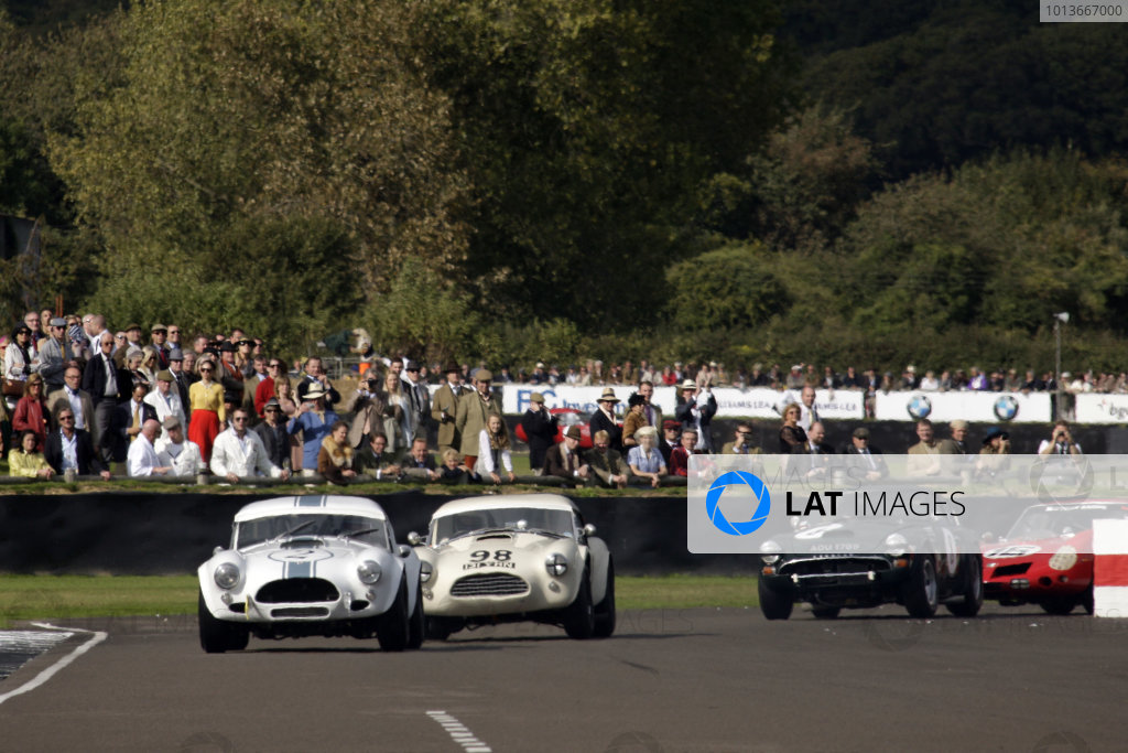 Goodwood Estate, West Sussex. 15th - 18th September 2011. RAC Tourist Trophy. Jochen Mass leads Eddie Cheever. World Copyright: Gary Hawkins/LAT Photographic. Ref:  Digital Image Only.