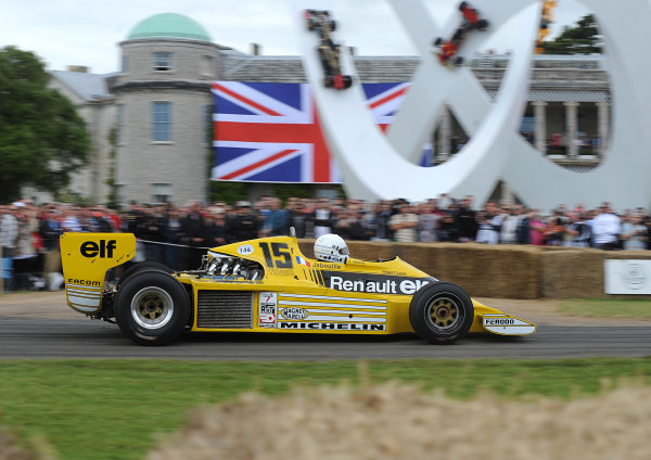x England 28th June - 1st July 2012 Rene Arnoux, Renault RS01. World Copyright: Jeff Bloxham/LAT Photographic Ref: Digital Image Only