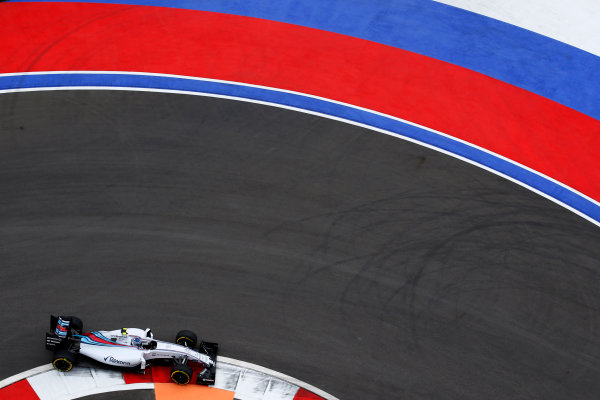 Sochi Autodrom, Sochi, Russia. Friday 9 October 2015. Valtteri Bottas, Williams FW37 Mercedes. World Copyright: Charles Coates/LAT Photographic ref: Digital Image _N7T7562
