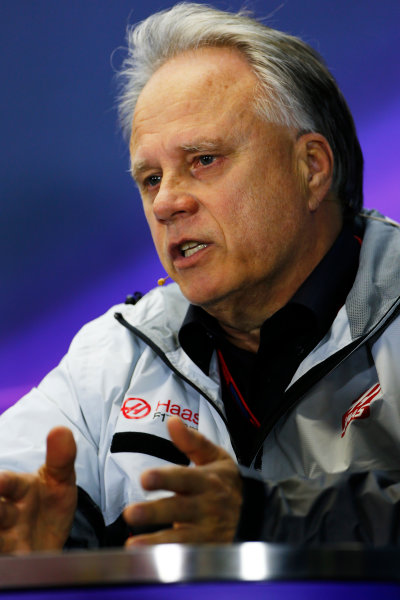 Albert Park, Melbourne, Australia. Friday 18 March 2016. Gene Haas, Team Owner, Haas F1, in the Team Principals Press Conference. World Copyright: Andrew Hone/LAT Photographic ref: Digital Image _ONZ2086