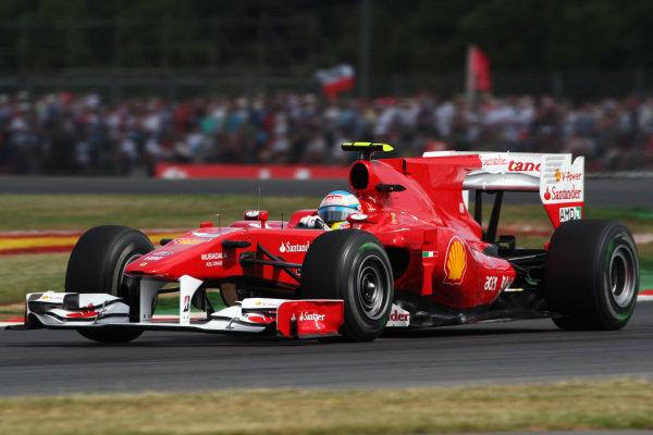 Fernando Alonso (ESP) Ferrari F10. Formula One World Championship, Rd 10, British Grand Prix, Qualifying Day, Silverstone, England, Saturday 10 July 2010.  BEST IMAGE