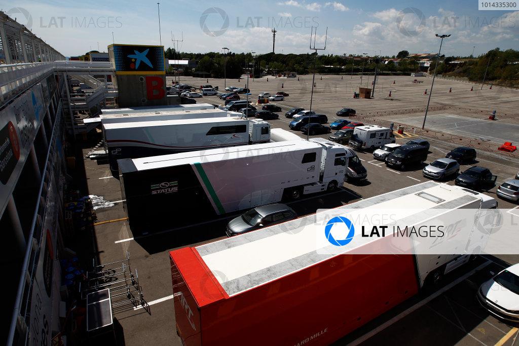 2015 GP3 Series Test 3 - Circuit de Catalunya, Barcelona, Spain. Thursday 23 April 2015. The GP3 paddock Photo: Sam Bloxham/GP3 Series Media Service. ref: Digital Image _G7C0526