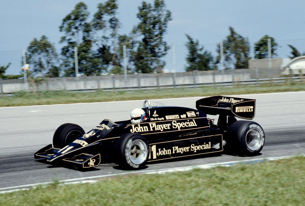 1983 Brazilian Grand Prix.Jacarepagua, Rio de Janeiro, Brazil.11-13 March 1983.Elio de Angelis (Lotus 91 Ford).Ref-83 BRA 20.World Copyright - LAT Photographic