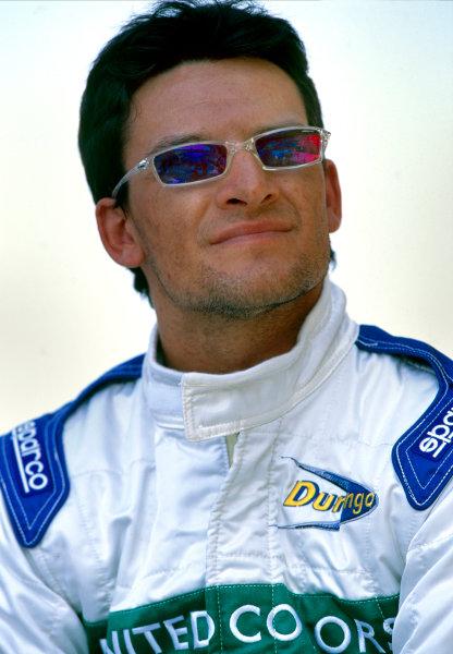 2003 International F3000 ChampionshipBarcelona, Spain. 2nd - 3rd May 2003Race winner Giorgio Pantana (Durango), portrait.Photo: Lorenzo Bellanca / LAT Photographic ref: 35mm Image 03F3kESP15