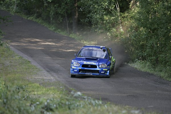 2005 FIA World Rally Champs. Round ten Rally Finland.4th - 7th August 2005.Chris Atkinson, Subaru, action.World Copyright: McKlein/LAT