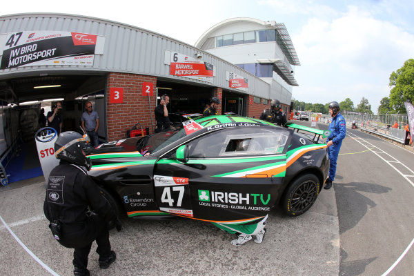 2016 British GT Championship, Oulton Park, Cheshire, 28th-30th May 2016, Kieran Griffin / Jake Giddings JW Bird Motorsport Aston Martin Vantage GT4  World Copyright.Ebrey/LAT Photographic