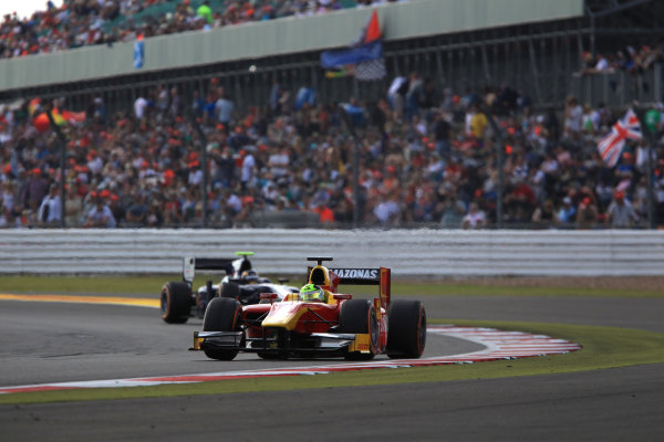 2013 GP2 Series. Round 5. Silverstone, Northamptonshire, England. 30th June. Sunday Race. Julian Leal (COL, Racing Engineering). Action.  World Copyright: Jakob Ebrey/GP2 Series Media Service. Ref: JE2_4144