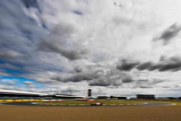 Silverstone, Northamptonshire, UK. Friday 14 July 2017. Sergio Perez, Force India VJM10 Mercedes. World Copyright: Zak Mauger/LAT Images ref: Digital Image _56I8755