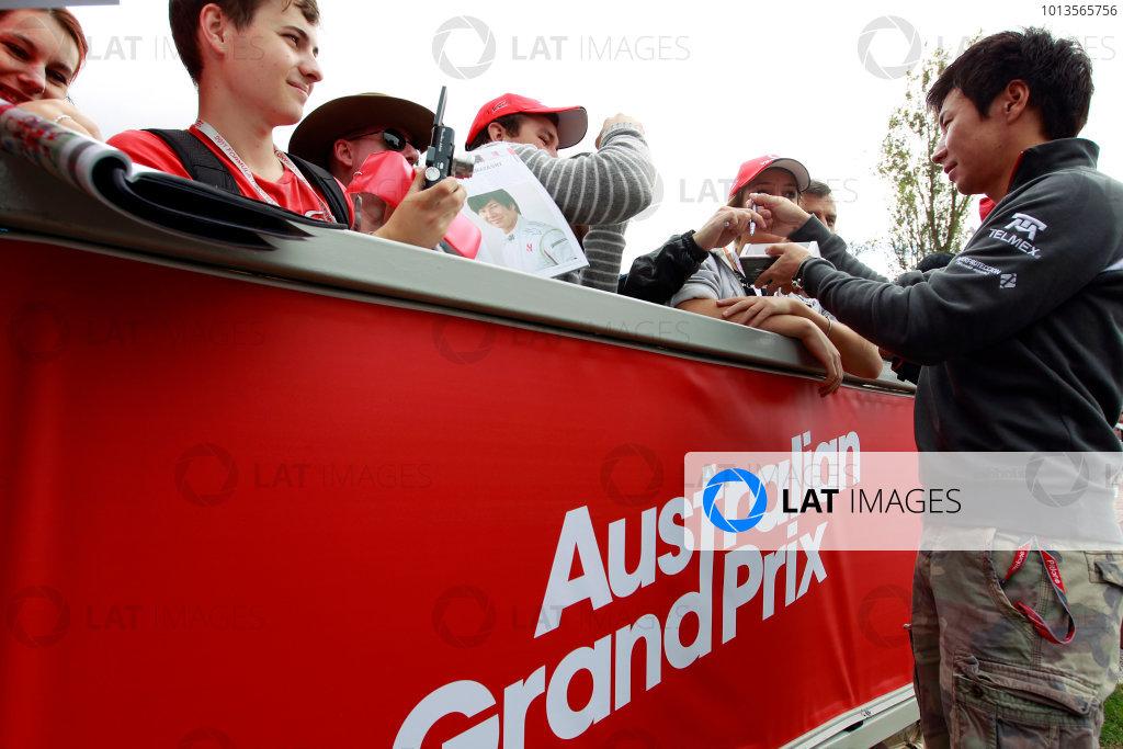 Albert Park, Melbourne, Australia24th March 2011.Kamui Kobayashi, BMW Sauber C30 Ferrari.World Copyright: Charles Coates/LAT Photographicref: Digital Image _X5J5503