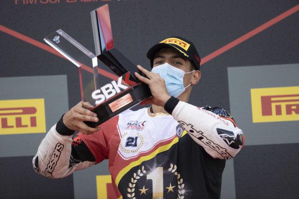 Michael Ruben Rinaldi, Team Goeleven celebrates being top privateer.